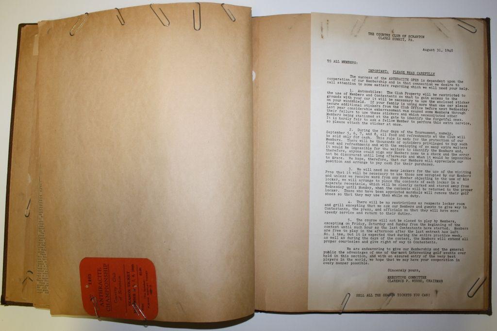 Lot Detail Felix Serafins Scrapbook 1939 1940 Anthracite Open