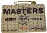 1966 Masters Badge-Jack Nicklaus 3rd Masters Win