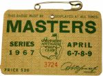 1967 Masters Badge