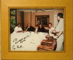Framed George Bush 8x10 Autographed Photo - At Table Great Work