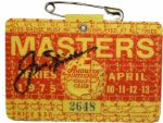 1975 Jack Nicklaus Autographed Masters Badge