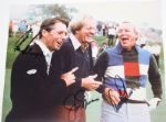 Big 3 Signed 8x10: Jack Nicklaus, Arnold Palmer, and Gary Player