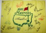 2000 Masters Embroidered Pin Flag Signed by 17 Champs