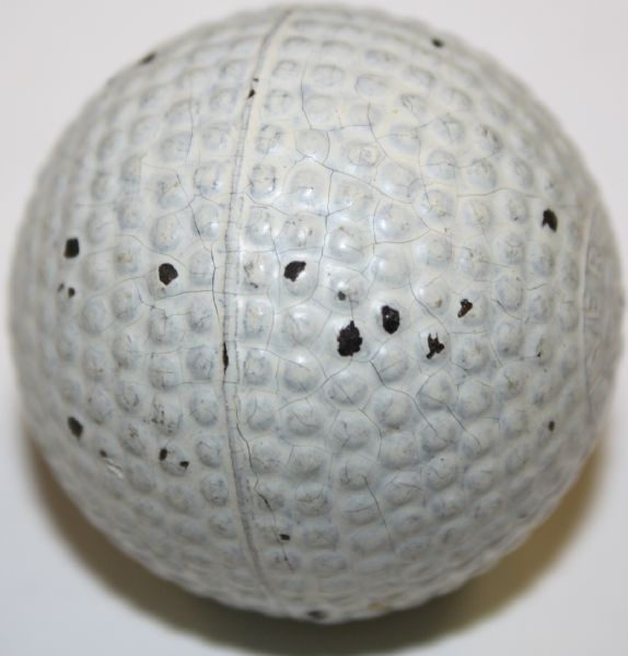 VIRTUALLY MINT VARDON FLYER UNHIT solid Gutta Percha Bramble covered ball