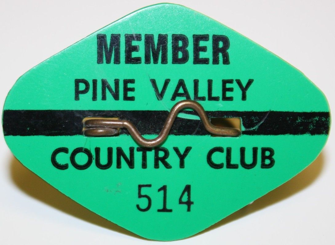 Lot Detail - Pine Valley Country Club Member Pin - #514