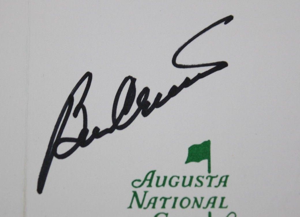 8ddb355eec8 ... Ben Crenshaw Signed Augusta National Golf Club Scorecard JSA COA