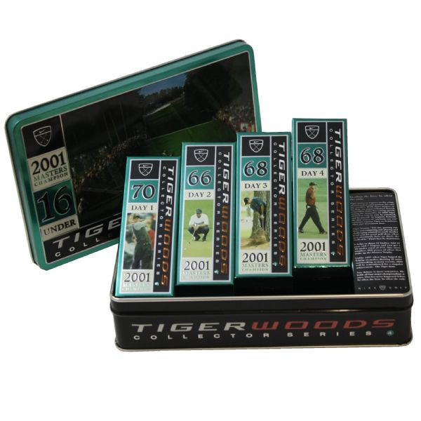 2001 Tiger Woods Nike Commemorative Masters Dozen Ball Tin Box Set