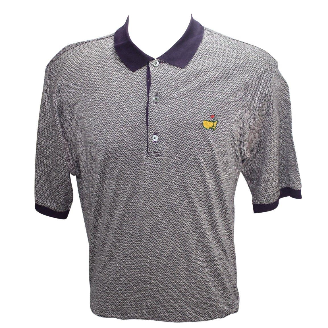 Lot detail bobby jones masters logo golf shirt size large for Name brand golf shirts