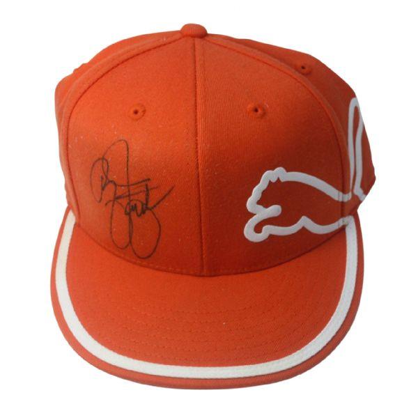 76dc3954 ... cheap rickie fowler signed orange puma hat jsa coa 10edf 34bb6