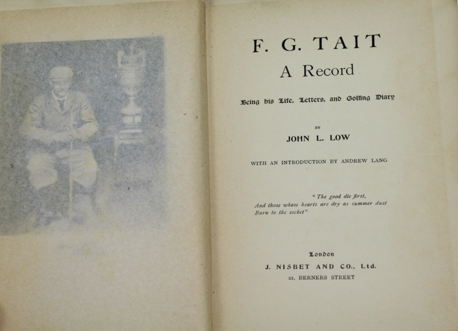 Lot detail fg tait a record being his life letter and a record being his life letter and golfing diary spiritdancerdesigns Images