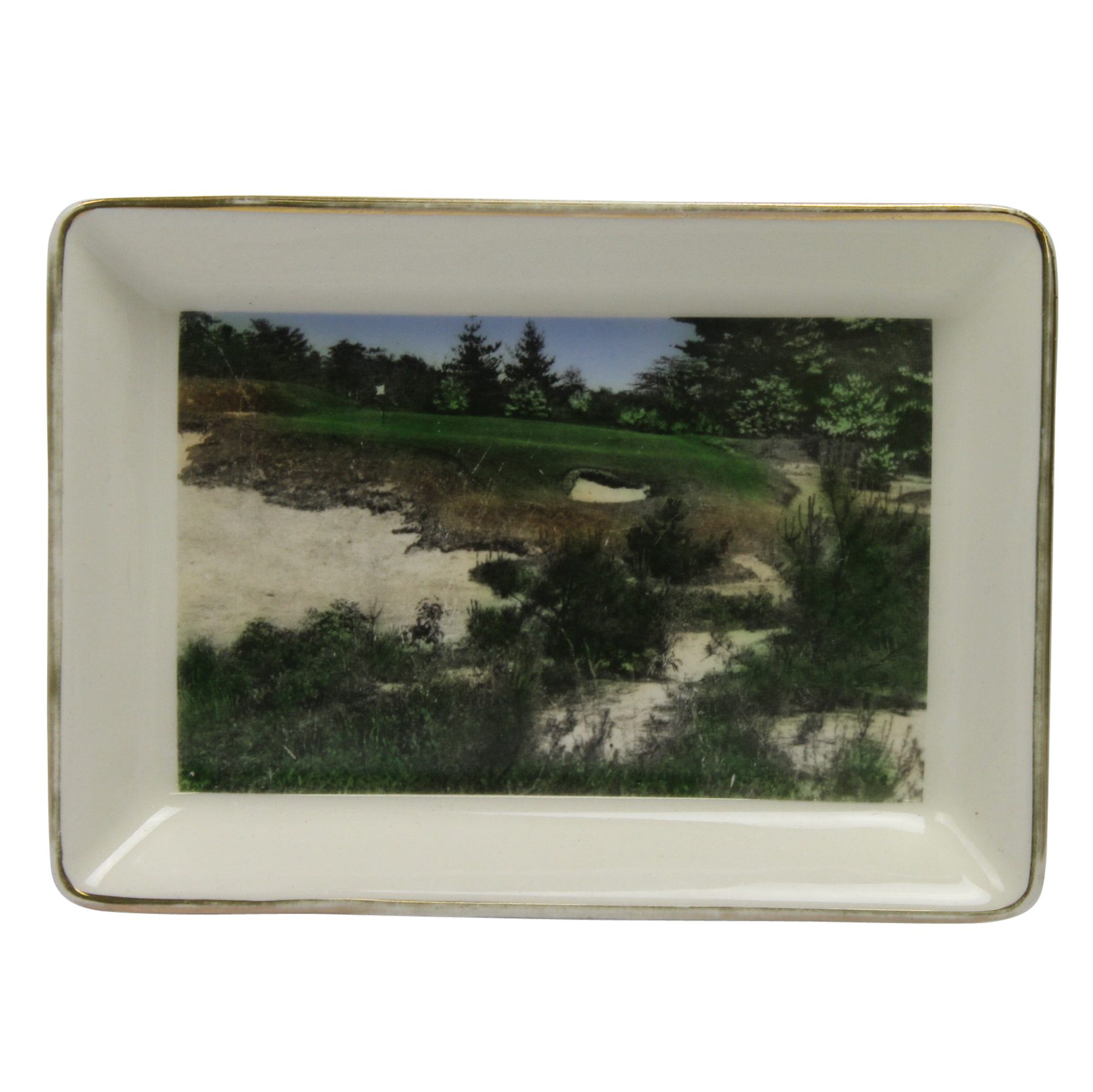 Lot Detail - Pine Valley Golf Club Dish Plate - 10th Hole