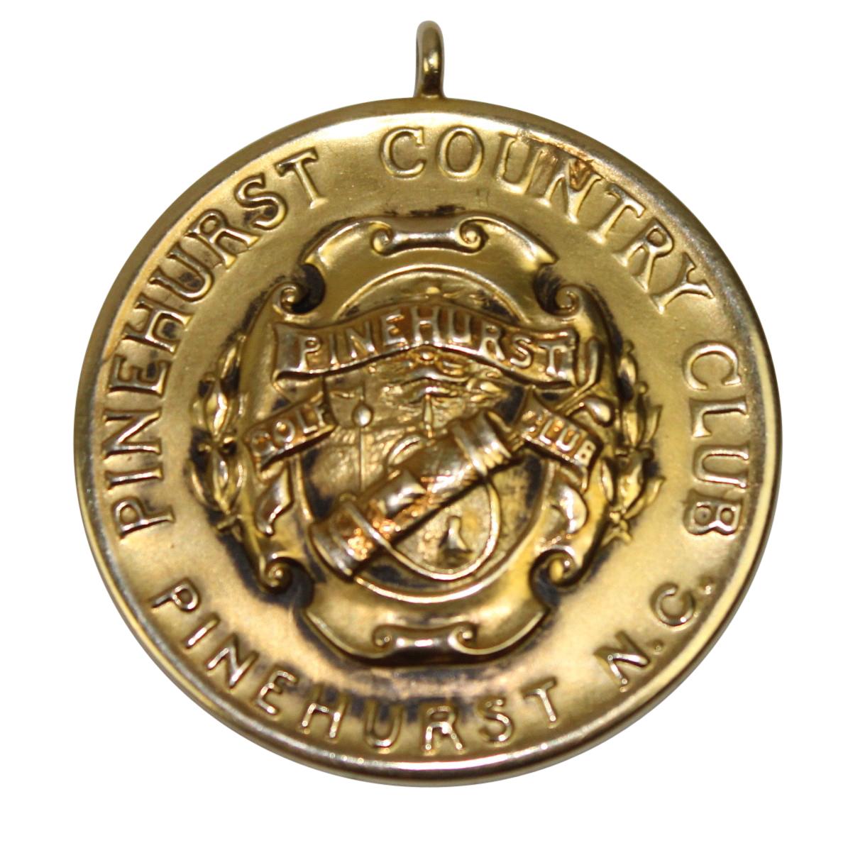 lot detail - 1911 pinehurst cc 14k gold medal