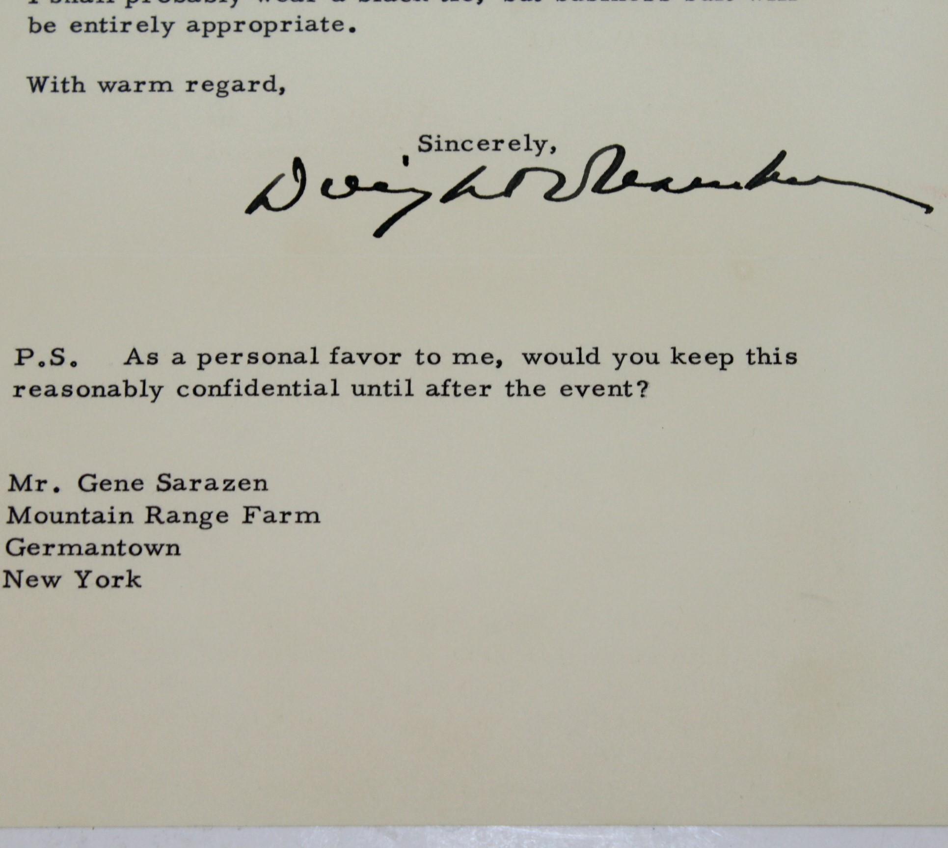 Lot detail president eisenhower signed 1955 invitation letter to president eisenhower signed 1955 invitation letter to gene sarazen jsa aloa stopboris Images