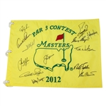 2012 Masters Par 3 Contest Flag Champs Flag including Big Three, Watson, and Others JSA ALOA