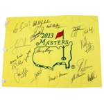 2013 Masters Champs Flag Signed by Woods, Mickelson, Player, and others JSA ALOA