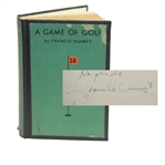 Francis Ouimet Signed A Game of Golf Book - Long Inscription JSA ALOA