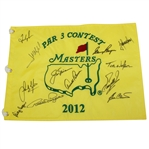 2012 Masters Par Contest Embroidered Flag Signed by 12 Masters Winners JSA ALOA