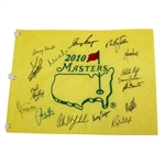 2010 Masters Champs Flag Signed by 16 Winners JSA ALOA