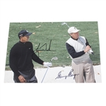 Tiger Woods & Gary Player Signed Color Photo JSA ALOA