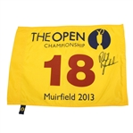 Phil Mickelson Signed 2013 Open Championship at Muirfield Flag JSA ALOA