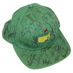 Masters Green Undated Champs Hat Signed by 35 Champs! JSA ALOA