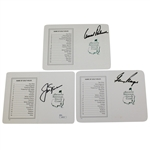 Palmer, Nicklaus, and Player Signed Augusta National Scorecards JSA & PSA/DNA Cards