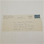 Horton Smith Autograph on Envelope to Dawson Taylor JSA Full #B43571