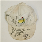 Multi-Signed White Masters Hat by Palmer, Nicklaus, Stewart, Neiman, and others JSA ALOA
