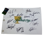 Undated Presidents Cup Embroidered White Flag Signed by International Team JSA ALOA