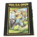 1976 US Open at Atlanta Athletic Club Program with Bobby Jones on Cover - Roth Collection