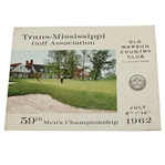 1962 Trans-Mississippi Golf Association at Old Warson CC Program - 59th Championship - Roth Collection