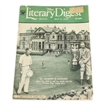 1934 The Literary Digest Walker Cup St. Andrews In Scotland Magazine - May 5th - Roth Collection