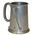 Undated Gentry Pewter Crossed Club with Golf Ball Marked Tankard - Roth Collection