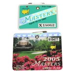 1997 & 2005 Masters Badges - Tigers First and Last Masters Victories