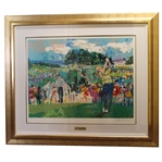 LeRoy Neiman Signed April at Augusta Art Piece from Personal Collection - Framed - JSA ALOA