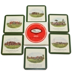 Six Pimpernel Coasters - Famous British Golf Clubs - St Andrews, Troon, Royal Liverpool, and More - Roth Collection