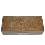 Smith Metal SilverCrest Decorated Bronze Cigarette Box - R. Wayne Perkins Collection