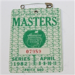 1982 Masters Tournament Series Badge #07989 - Craig Stadler Win