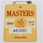1988 Masters Tournament Series Badge #A6390 - Sandy Lyle Win