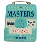 1989 Masters Tournament Series Badge #A06270 - Nick Faldo Win