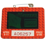 1993 Masters Tournament Series Badge #A06257 - Bernhard Langer Win