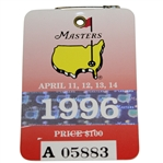 1996 Masters Tournament Series Badge #A05883- Nick Faldo Win