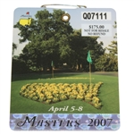 2007 Masters Tournament Series Badge #Q07111 - Zach Johnson Win
