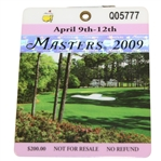 2009 Masters Tournament Series Badge #Q05777 - Ángel Cabrera Win