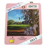 2015 Masters Tournament Series Badge #Q04730 - Jordan Spieth Win