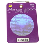2000 Masters Tournament Series Badge #Q06988 - Vijay Singh Win