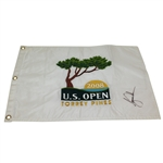 Tiger Woods Signed 2008 US Open at Torrey Pines Embroidered Flag - JSA ALOA