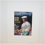 Payne Stewart Signed Golf World Magazine Cover - Matted JSA ALOA