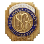 1935 USGA Amateur Contestant Badge - Lawson Little Winner