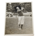 1930 Harry Cooper Wire Photo Qualifying for US Open 8/16/30